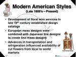modern american styles late 1800 s present