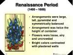renaissance period 1400 1600
