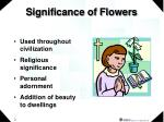 significance of flowers