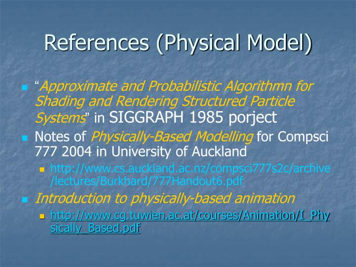 References (Physical Model)