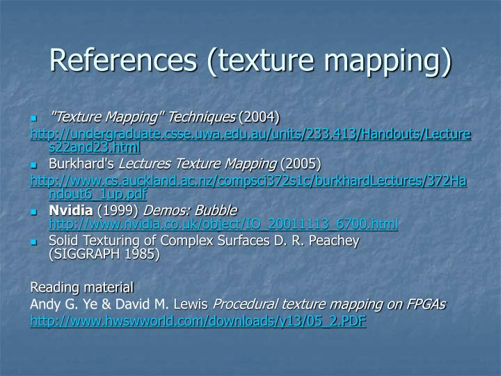 References (texture mapping)