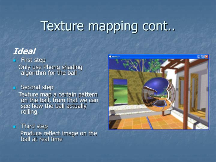 Texture mapping cont..