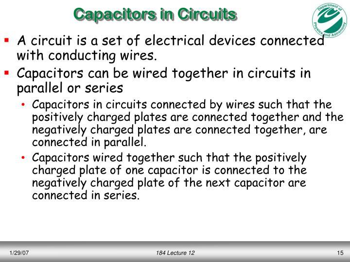 Capacitors in Circuits