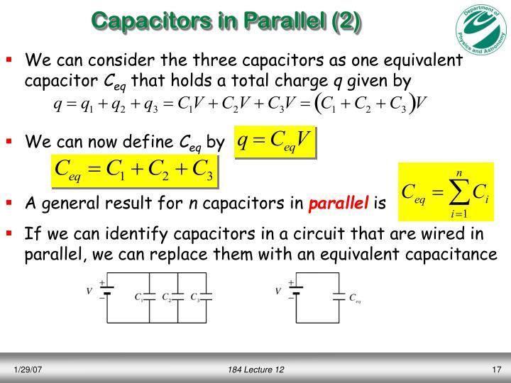Capacitors in Parallel (2)