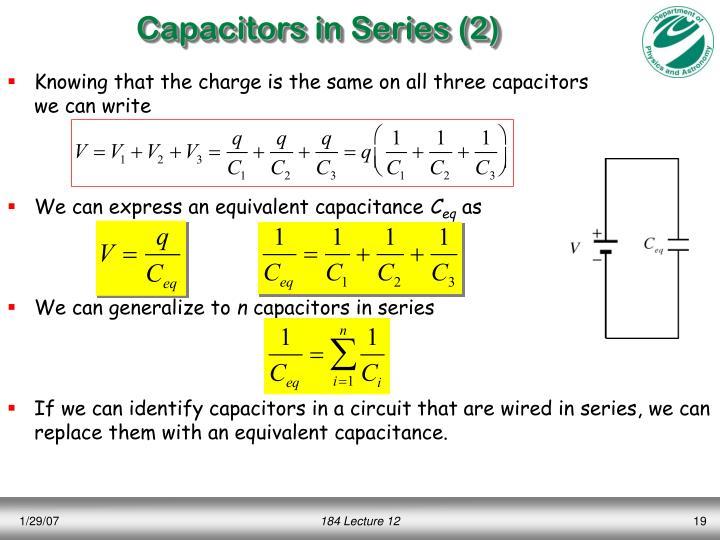 Capacitors in Series (2)