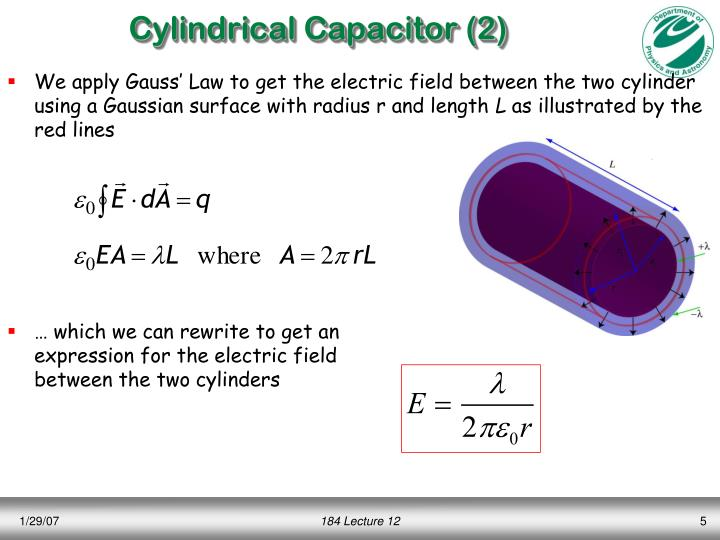 Cylindrical Capacitor (2)