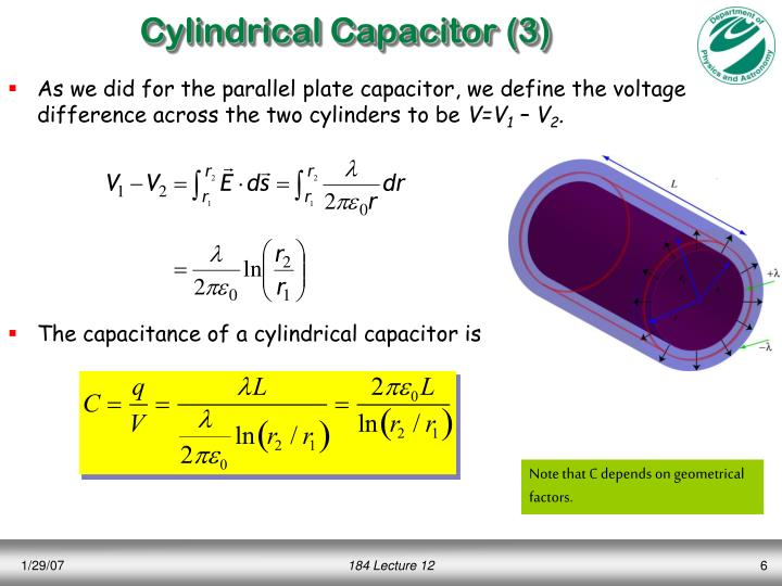 Cylindrical Capacitor (3)