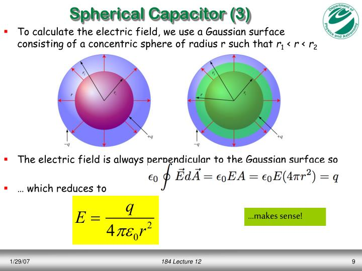 Spherical Capacitor (3)