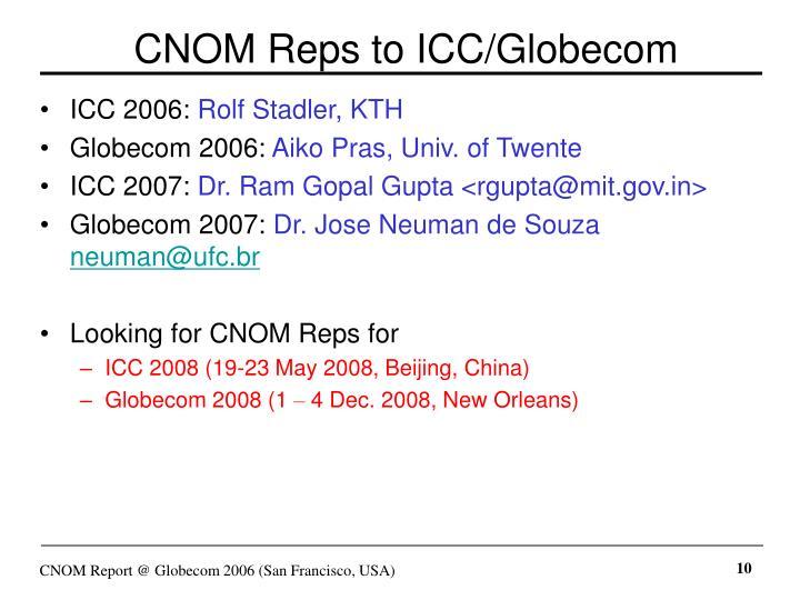 CNOM Reps to ICC/Globecom