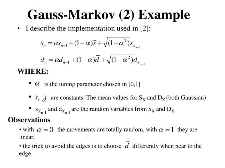 Gauss-Markov (2) Example