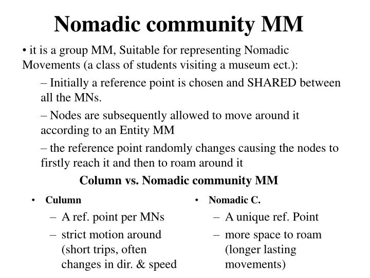 Nomadic community MM