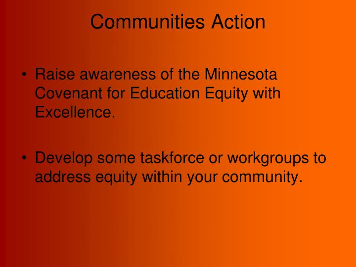 Communities Action