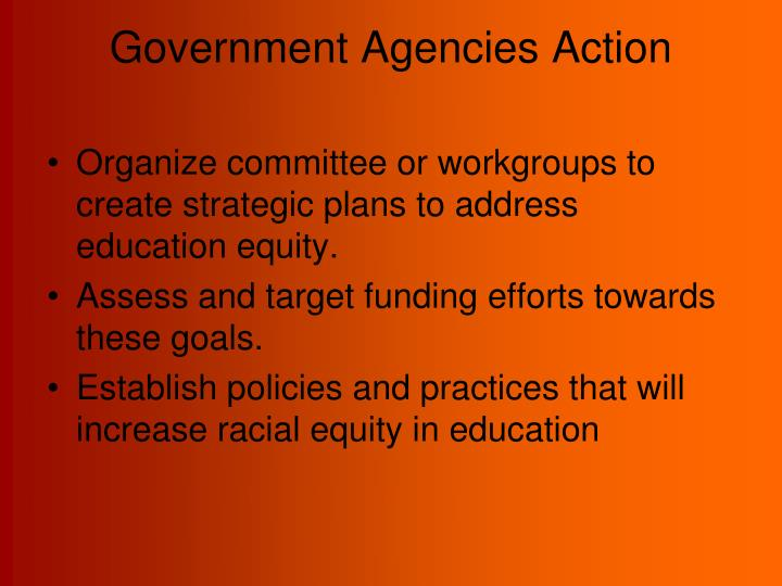 Government Agencies Action