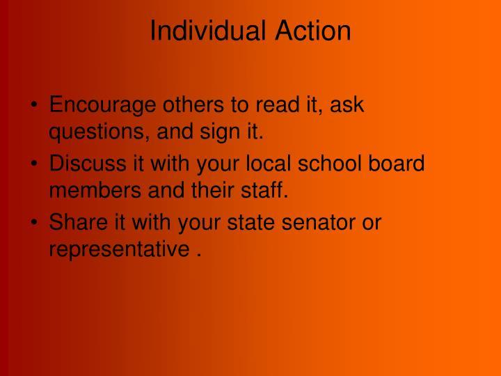 Individual Action