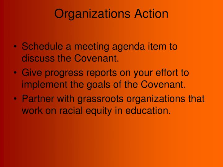 Organizations Action