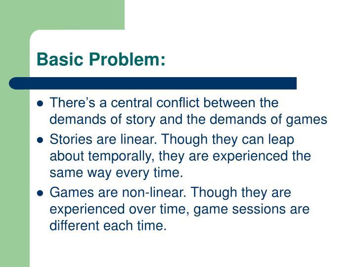 Basic Problem: