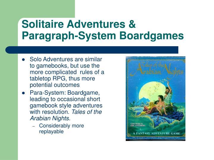 Solitaire Adventures &