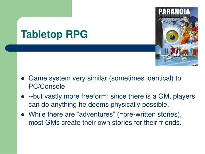 Tabletop RPG