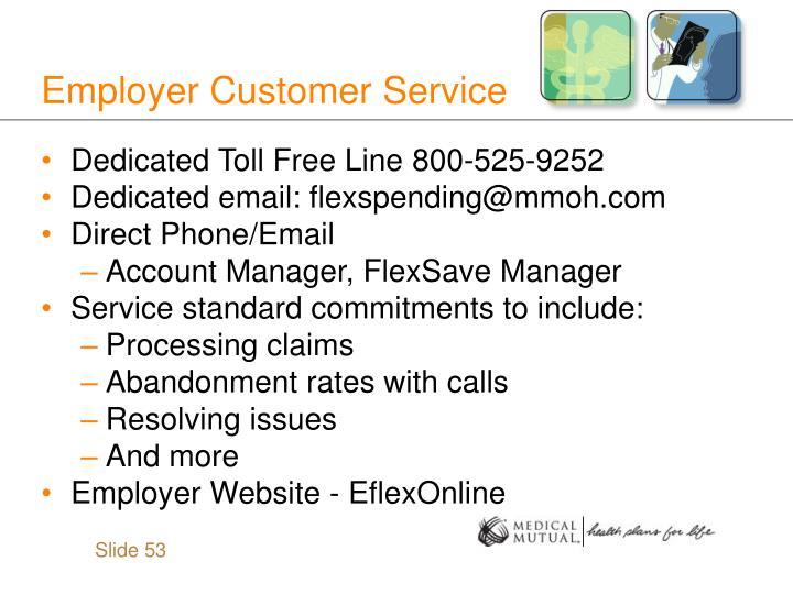 Employer Customer Service