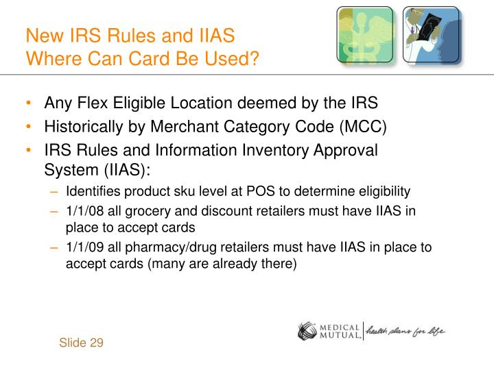 New IRS Rules and IIAS