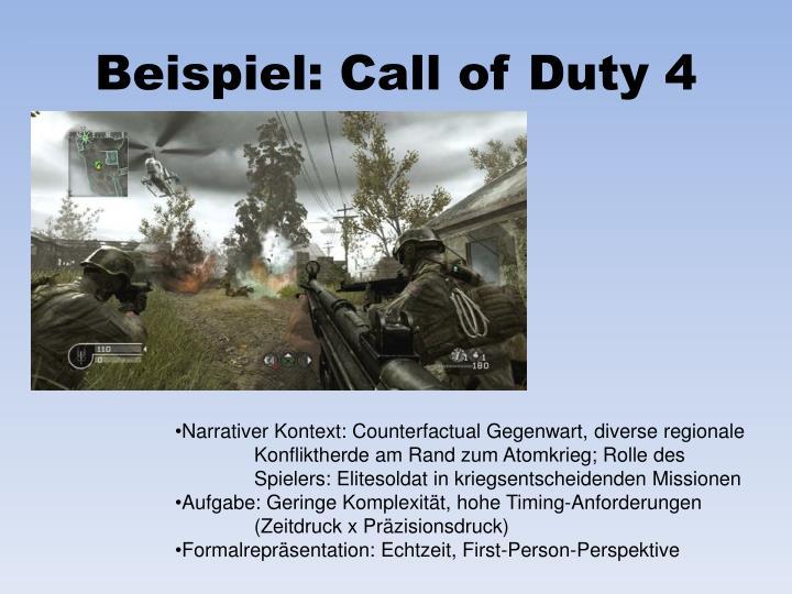 Beispiel: Call of Duty 4