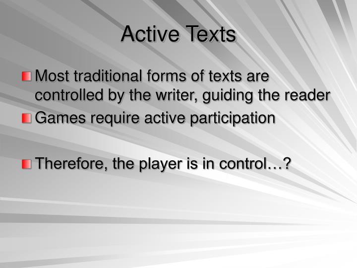 Active Texts