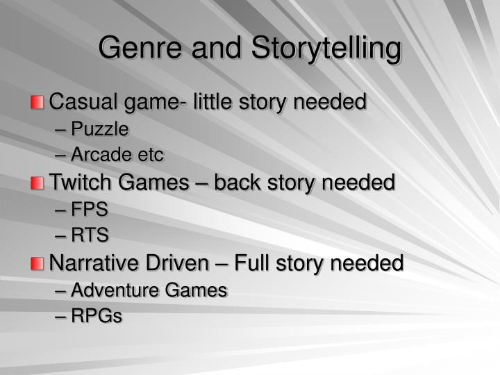 Genre and Storytelling