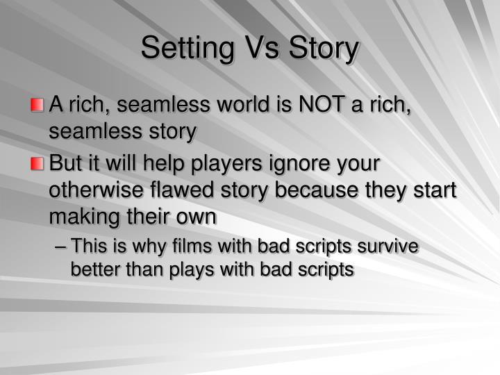 Setting Vs Story