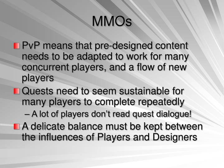 MMOs