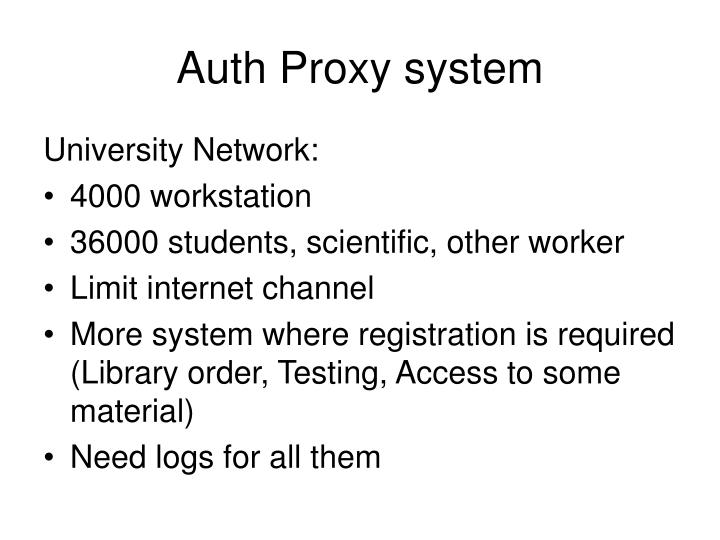 Auth Proxy system
