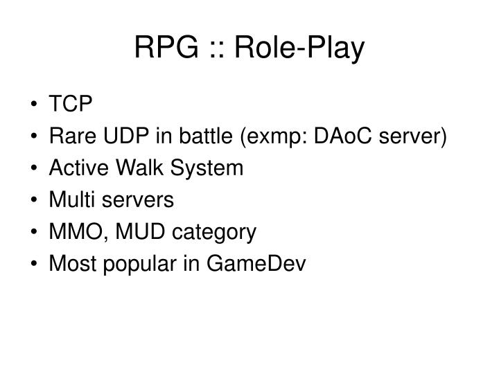 RPG :: Role-Play