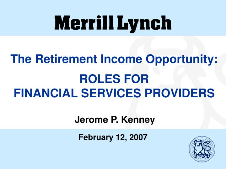 The Retirement Income Opportunity: