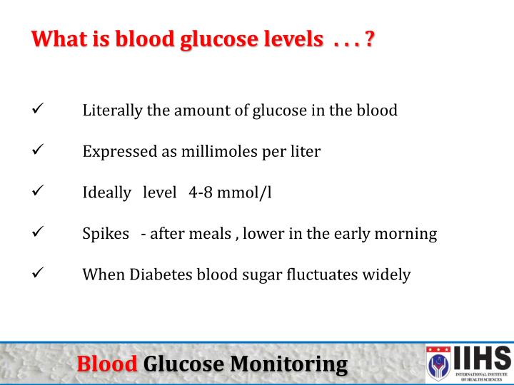 What is blood glucose levels  . . . ?
