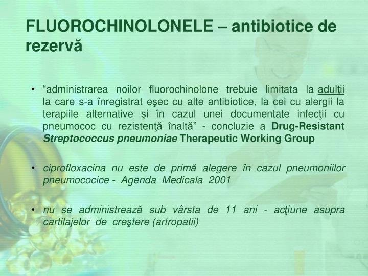 FLUOROCHINOLONELE –