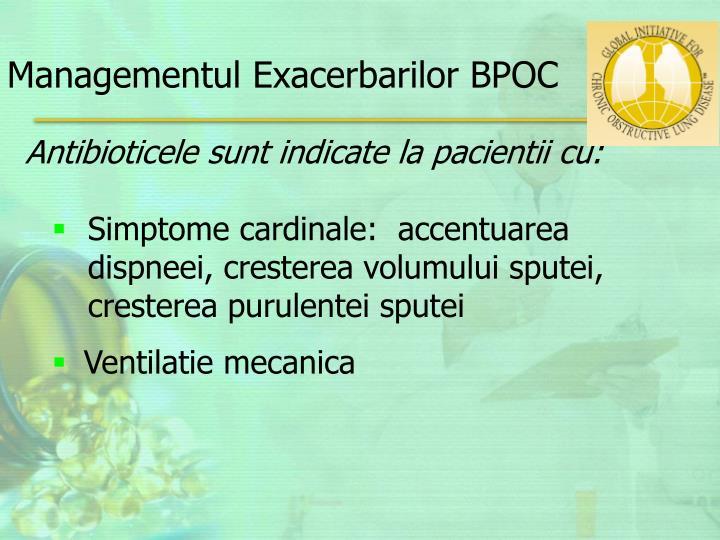 Managementul Exacerbarilor BPOC