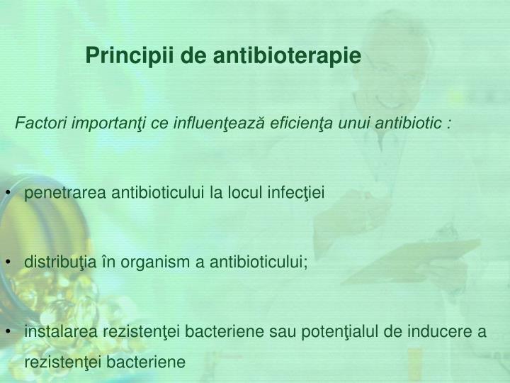 Principii de antibioterapie