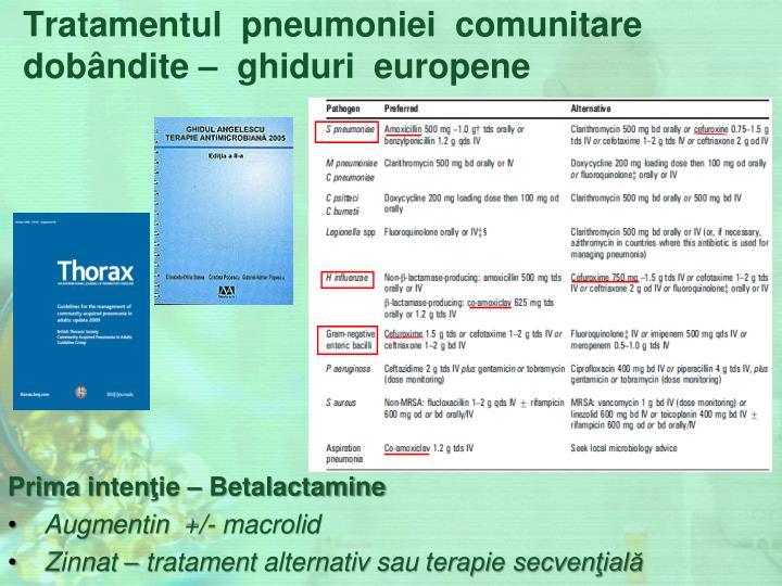 Tratamentul  pneumoniei