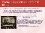 congress response to rrpi