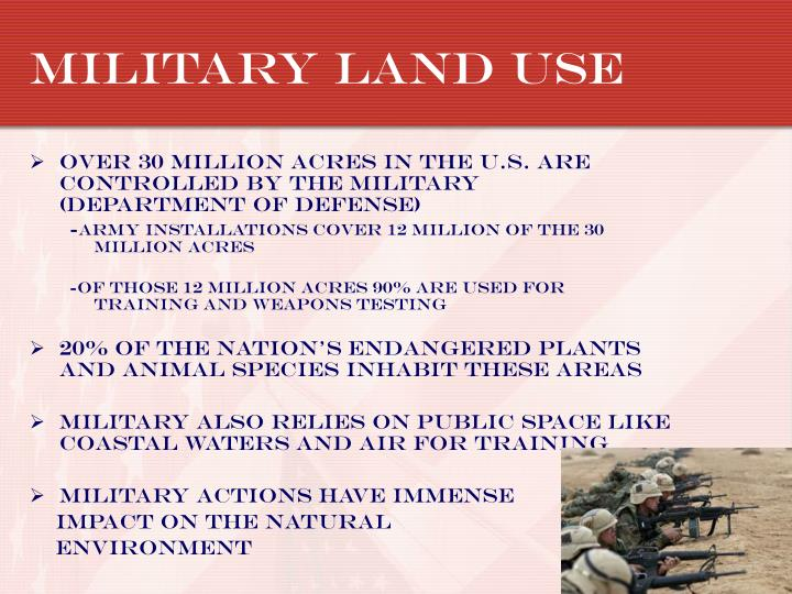Military land use