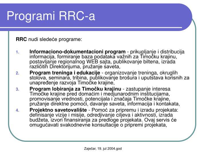 Programi RRC-a