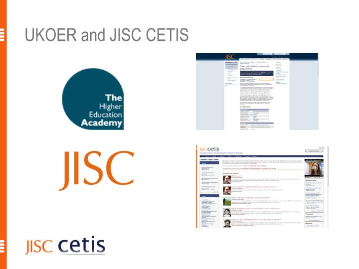 UKOER and JISC CETIS