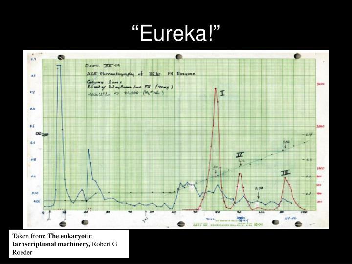 """Eureka!"""