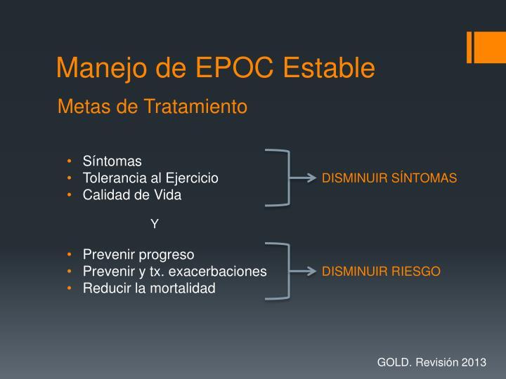 Manejo de EPOC Estable