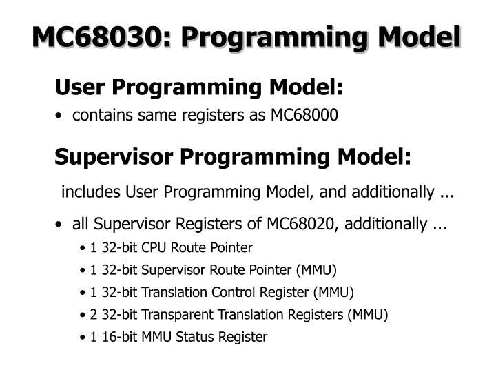 MC68030: Programming Model