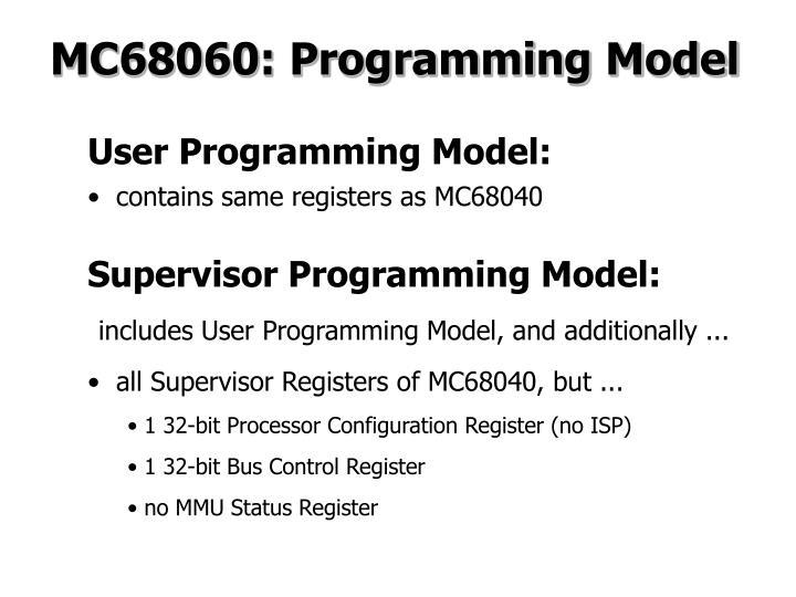 MC68060: Programming Model