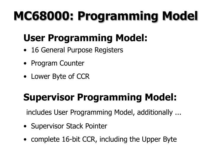 MC68000: Programming Model