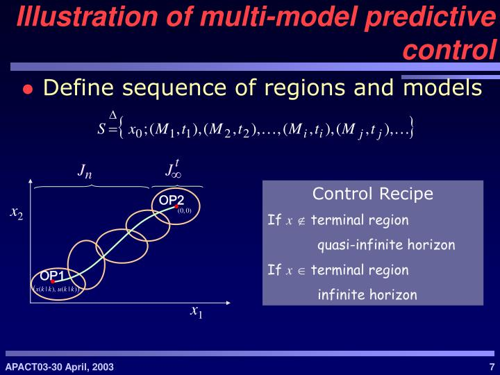 Define sequence of regions and models