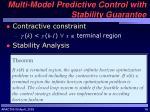 multi model predictive control with stability guarantee