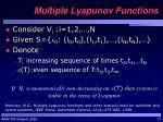 multiple lyapunov functions