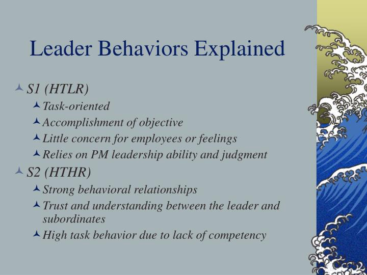 Leader Behaviors Explained